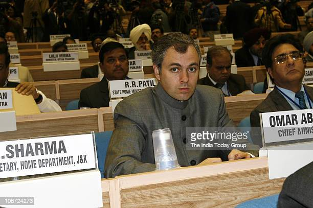 Jammu and Kashmir Chief Minister Omar Abdullah at conference of Chief Ministers on internal security held in the Capital on February 1