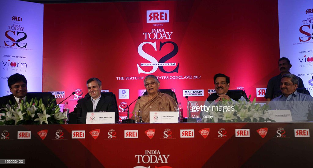 Jammu and Kashmir CM Omar Abdullah, Maharashtra CM Prithviraj Chavan and Delhi CM Sheila Dikshit at the India Today State of the States Conclave in New Delhi on Thursday, November 1, 2012.