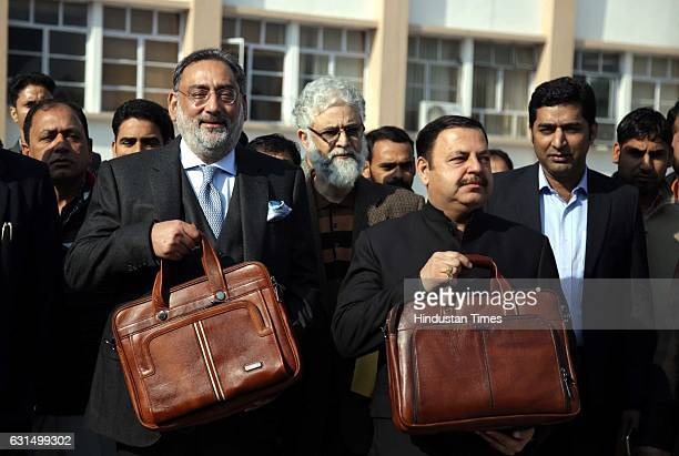 Jammu and Kashmir Finance Minister Haseeb Drabu going to present Budget 20172018 in Legislative Assembly during the Budget Session on January 11 2017...