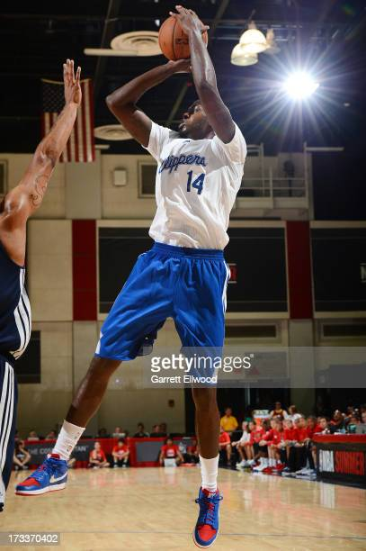 JaMychal Green of the Los Angeles Clippers shoots the ball against the Atlanta Hawks during NBA Summer League on July 12 2013 at the Cox Pavilion in...