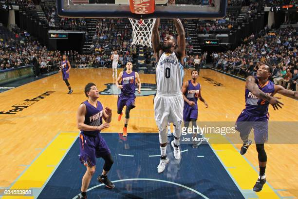 JaMychal Green of the Memphis Grizzlies dunks the ball against the Phoenix Suns on February 8 2017 at FedExForum in Memphis Tennessee NOTE TO USER...