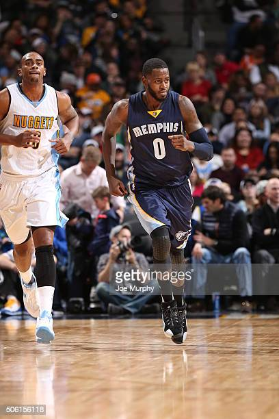 JaMychal Green of the Memphis Grizzlies during the game against the Denver Nuggets on January 21 2016 at the Pepsi Center in Denver Colorado NOTE TO...