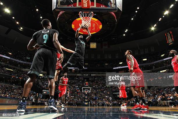 JaMychal Green of the Memphis Grizzlies goes to the basket against the Houston Rockets on January 21 2017 at FedExForum in Memphis Tennessee NOTE TO...