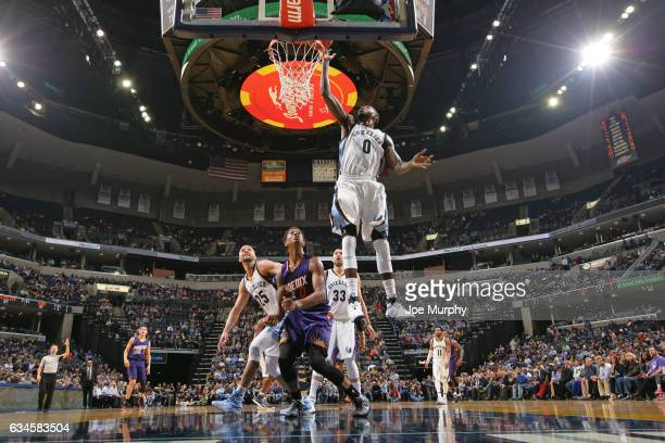 JaMychal Green of the Memphis Grizzlies goes up for a rebound against the Phoenix Suns on February 8 2017 at FedExForum in Memphis Tennessee NOTE TO...
