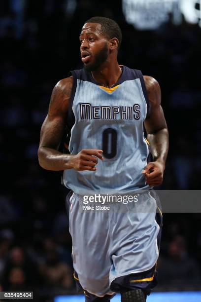 JaMychal Green of the Memphis Grizzlies in action against the Brooklyn Nets at Barclays Center on February 13 2017 in Brooklyn borough of New York...
