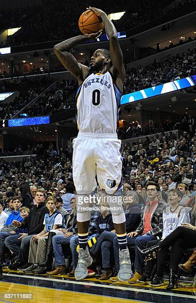 JaMychal Green of the Memphis Grizzlies plays against the Oklahoma City Thunder at FedExForum on December 29 2016 in Memphis Tennessee