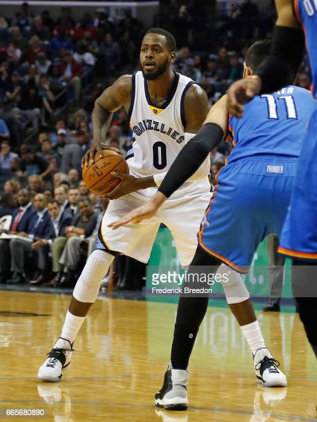 JaMychal Green of the Memphis Grizzlies plays against the Oklahoma City Thunder at FedExForum on April 5 2017 in Memphis Tennessee The Thunder won...