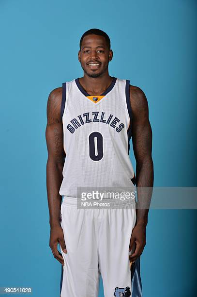JaMychal Green of the Memphis Grizzlies poses for a portrait during their 2015 Media Day on September 28 2015 at FedEx Forum in Memphis Tennessee...