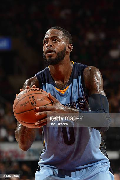 JaMychal Green of the Memphis Grizzlies shoots a free throw against the Toronto Raptors on November 30 2016 at the Air Canada Centre in Toronto...