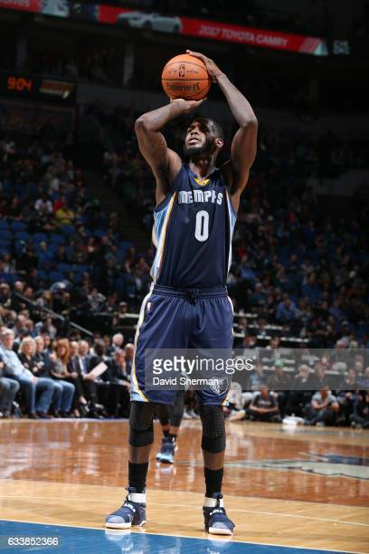 JaMychal Green of the Memphis Grizzlies shoots a free throw during a game against the Minnesota Timberwolves on February 4 2017 at the Target Center...