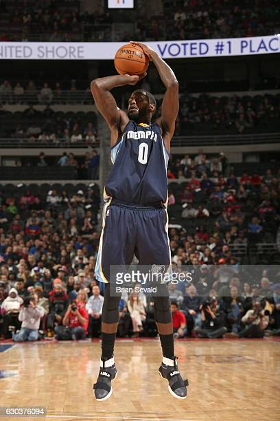 JaMychal Green of the Memphis Grizzlies shoots the ball against the Detroit Pistons on December 21 2016 at The Palace of Auburn Hills in Auburn Hills...