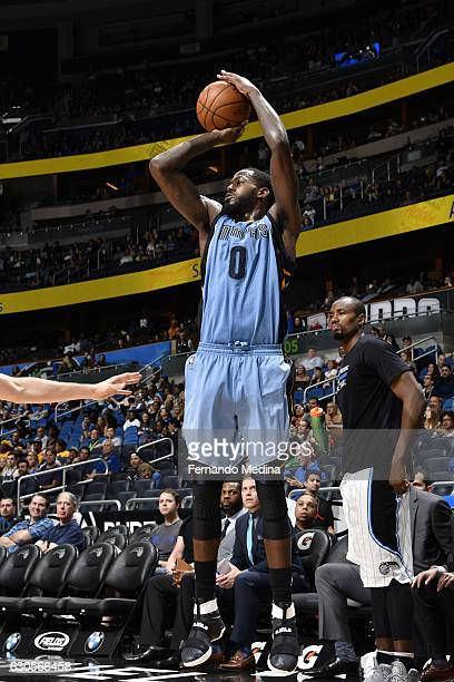 JaMychal Green of the Memphis Grizzlies shoots the ball against the Orlando Magic on December 26 2016 at Amway Center in Orlando Florida NOTE TO USER...