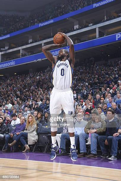 JaMychal Green of the Memphis Grizzlies shoots the ball against the Sacramento Kings on December 31 2016 at Golden 1 Center in Sacramento California...