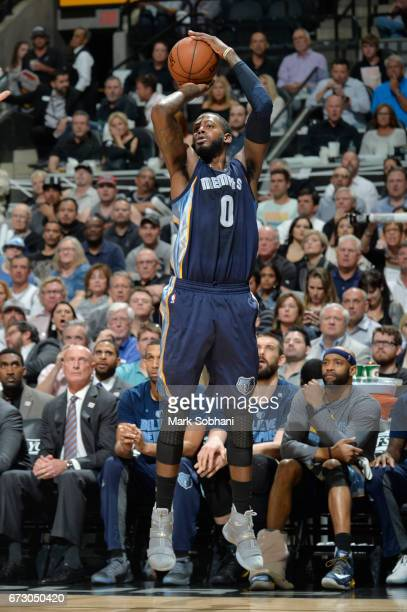 JaMychal Green of the Memphis Grizzlies shoots the ball against the San Antonio Spurs during Game Five of the Western Conference Quarterfinals of the...