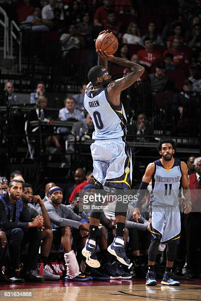 JaMychal Green of the Memphis Grizzlies shoots the ball during the game against the Houston Rockets on January 13 2017 at the Toyota Center in...