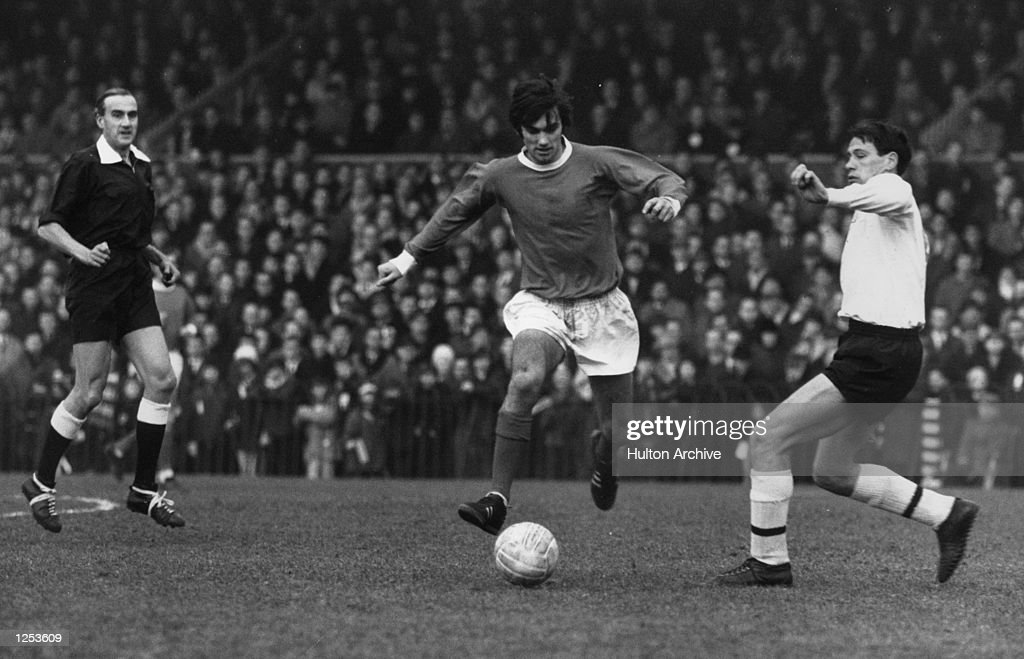 <a gi-track='captionPersonalityLinkClicked' href=/galleries/search?phrase=George+Best&family=editorial&specificpeople=206235 ng-click='$event.stopPropagation()'>George Best</a> of Manchester United and Northern Ireland during a league match. Mandatory Credit: Allsport Hulton/Archive