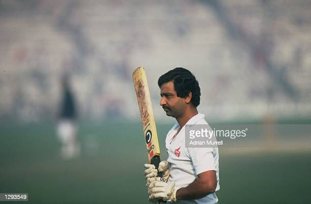 Profile of Gundappa Viswanath of India during the Fourth Test match against England at Eden Gardens in Calcutta India The match ended in a draw...