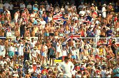 General view of the England crowd during the Fifth Ashes Test match against Australia at the Sydney Cricket Ground in Australia Australia won the...