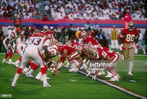General view of Super Bowl XXIII between the San Francisco 49ers and the Cincinnati Bengals at Joe Robbie Stadium in Miami Florida The 49ers won the...