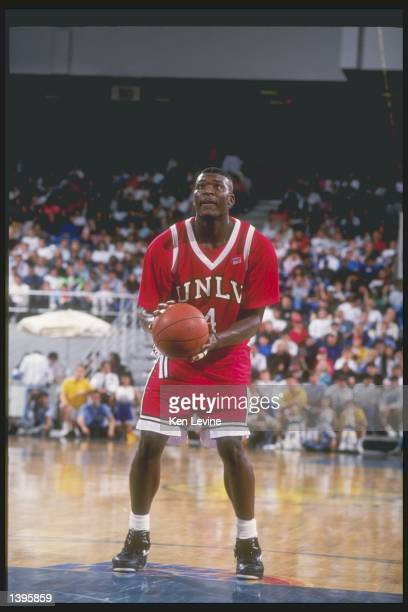 Forward Larry Johnson of the UNLV Rebels in action during a game against the University of California at Irvine Anteaters