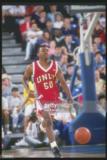 Guard Greg Anthony of the UNLV Rebels in action during a game against the University of California at Irvine Anteaters