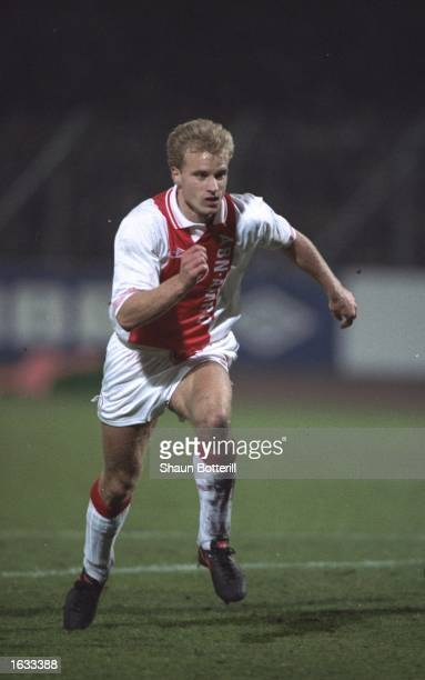 Dennis Bergkamp of Ajax in action during a match Mandatory Credit Shaun Botterill/Allsport