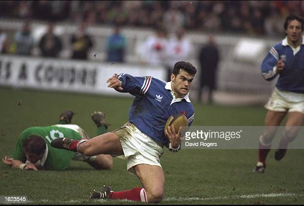 Alain Penaud of France moves forward during the Five Nations Championship match against Ireland at the Parc des Princes in Paris France Mandatory...