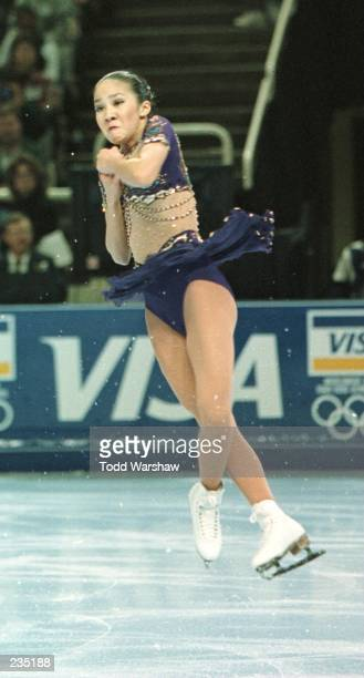 Michelle Kwan of Torrance CA performs in the women''s free skate at the US Figure Skating Championships at San Jose Arena in San Jose California The...