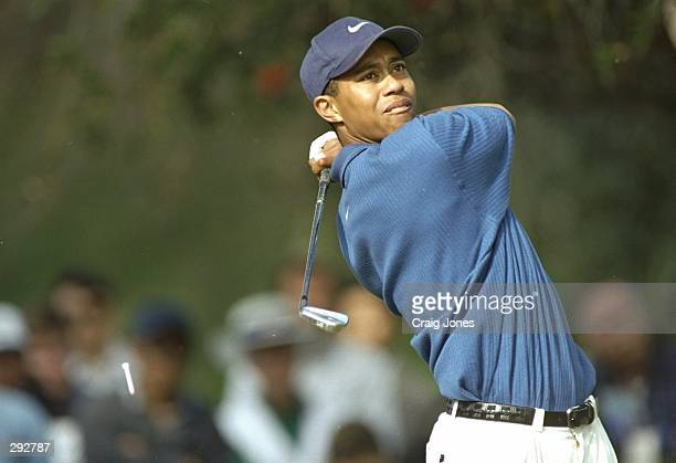Tiger Woods hits the ball during a round at the Mercedes Championships at La Costa Resort in Carlsbad California Mandatory Credit Craig Jones...