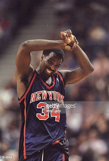 Forward Charles Oakley of the New York Knicks looks on during a game against the Miami Heat at the Miami Arena in Miami Florida The Heat won the game...