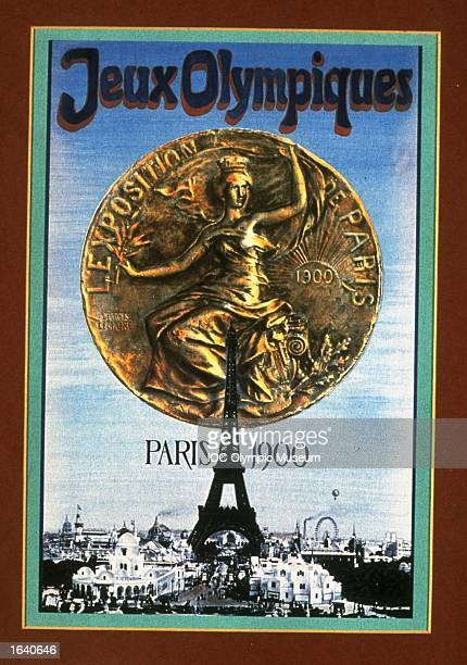 An offical poster from the 1900 Paris Olympic Games on display at the IOC Olympic Museum in Lausanne Switzerland Mandatory Credit IOC Olympic Museum...