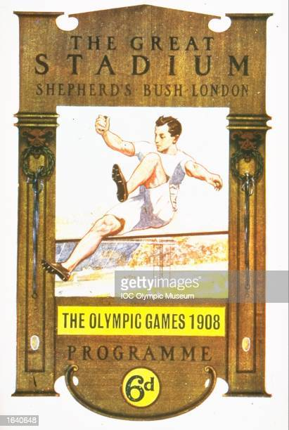 An offical poster from the 1908 London Olympic Games on display at the IOC Olympic Museum in Lausanne, Switzerland. \ Mandatory Credit: IOC Olympic Museum /Allsport