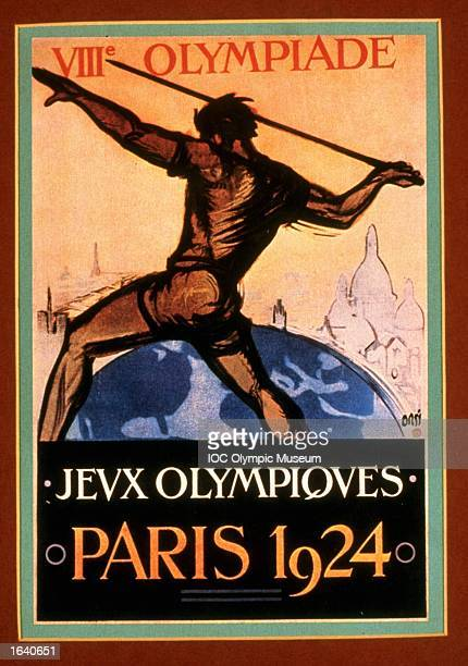 An offical poster from the 1924 Paris Olympic Games on display at the IOC Olympic Museum in Lausanne Switzerland Mandatory Credit IOC Olympic Museum...