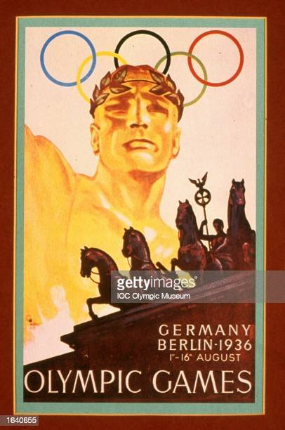 An offical poster from the 1936 Berlin Olympic Games on display at the IOC Olympic Museum in Lausanne, Switzerland. \ Mandatory Credit: IOC Olympic Museum /Allsport
