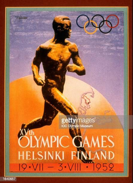 An offical poster from the 1952 Helsinki Olympic Games on display at the IOC Olympic Museum in Lausanne Switzerland Mandatory Credit IOC Olympic...