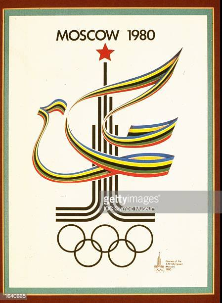An offical poster from the 1980 Moscow Olympic Games on display at the IOC Olympic Museum in Lausanne Switzerland Mandatory Credit IOC Olympic Museum...