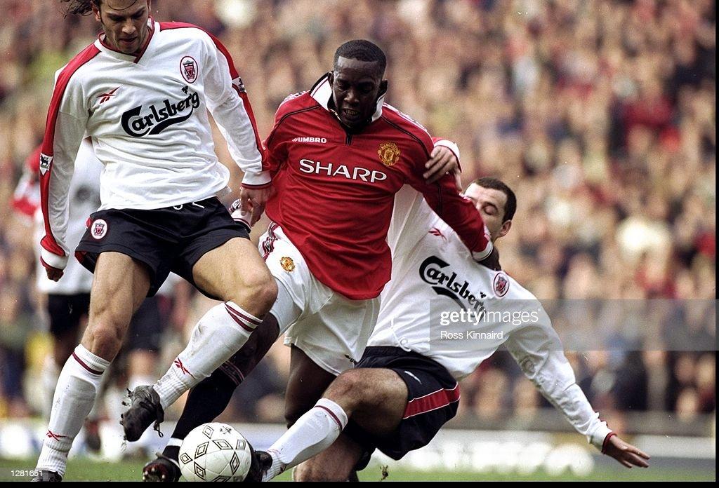Man United v Liverpool Dwight Yorke : News Photo
