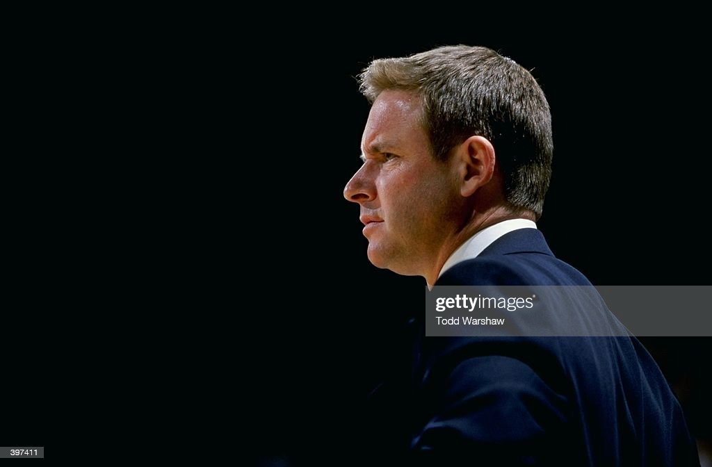 Head coach Ben Braun of the California Golden Bears watches from the bench during the game against the UCLA Bruins at Pauley Pavilion in Westwood...