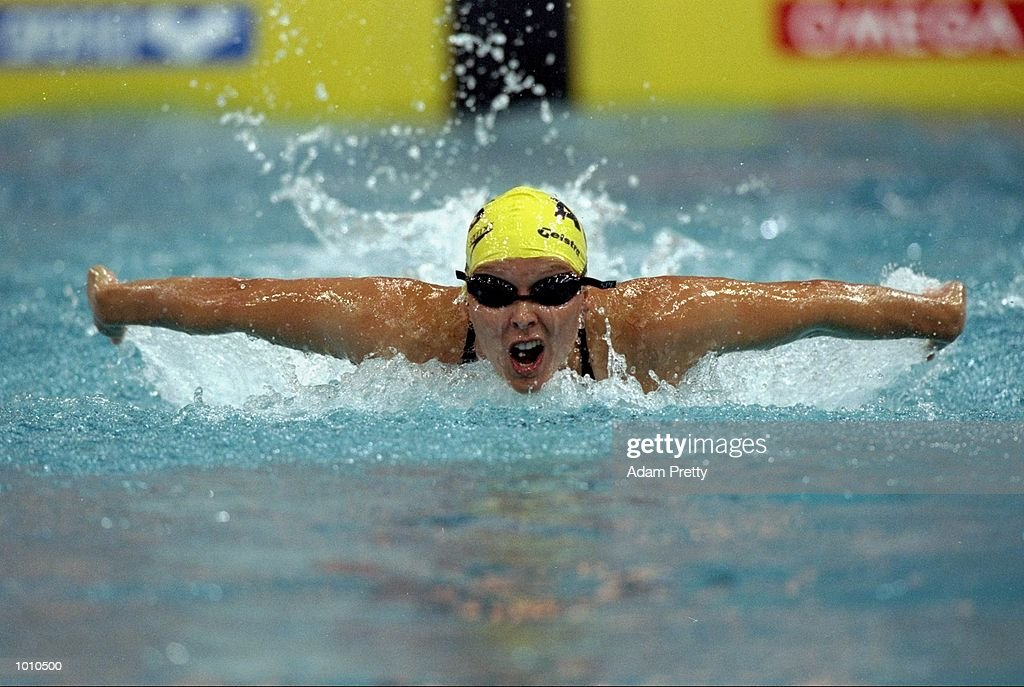 Susie O''Neill of Australia in action during the Womens 100m Butterfly from the 1999 FINA World Cup at the Sydney International Aquatic Centre, Homebush, Sydney, Australia. \ Mandatory Credit: Adam Pretty /Allsport