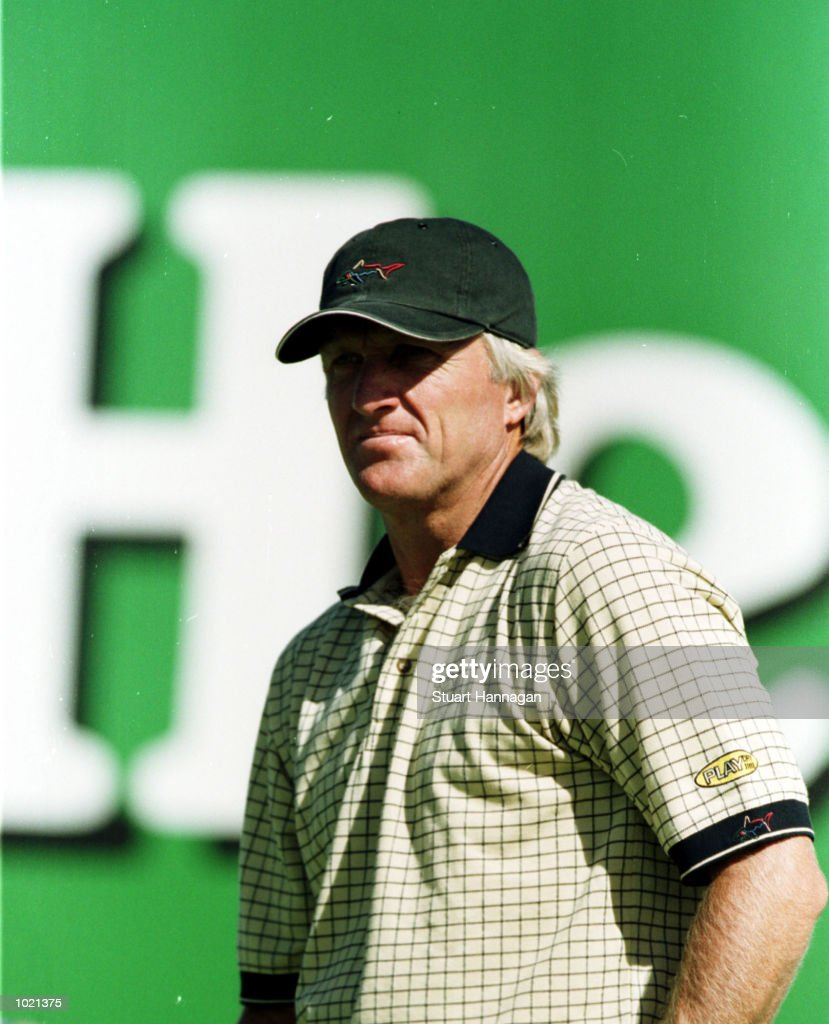 Greg Norman of Australia looks on during the third round of the Heineken Classic 2000 at The Vines Golf Course, Perth, Australia. Mandatory Credit: Stuart Hannagan/ALLSPORT