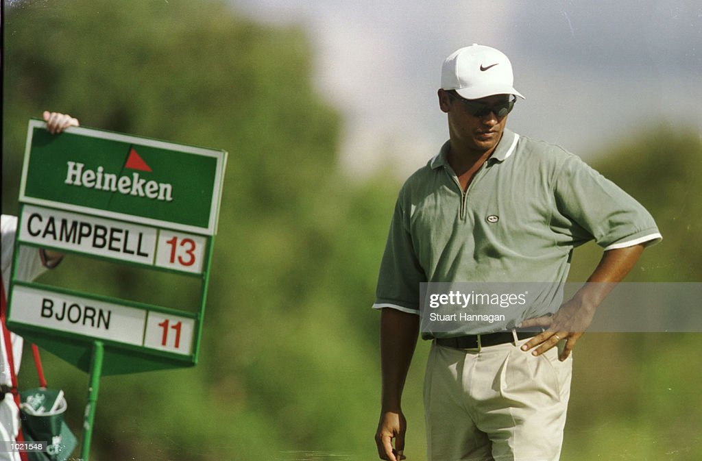 Michael Campbell of New Zealand looks on whilst recording 14 under par for the day during the third round of the Heineken Classic 2000 golf played at The Vines Golf Course, Perth, Australia. Mandatory Credit: Stuart Hannagan/ALLSPORT