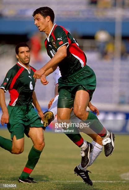Ramzi Adil of Morocco in action during the African Nations Cup match against Tunisia at the National Stadium in Lagos Nigeria The match was drawn 00...