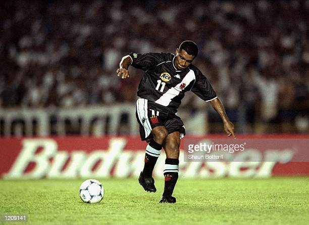 Romario of Vasco de Gama in action during the Final of the World Club Championship against Corinthians played at the Maracana Stadium in Rio de...