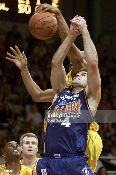 Ben Arkell of West Sydney competes for a rebound during the National Basketball League match between the West Sydney Razorbacks and Melbourne Tigers...