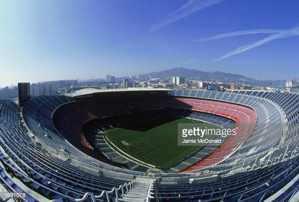 General view of Barcelona Football Club stadium the Nou Camp during a photoshoot held in Barcelona Spain Mandatory Credit Jamie McDonald /Allsport