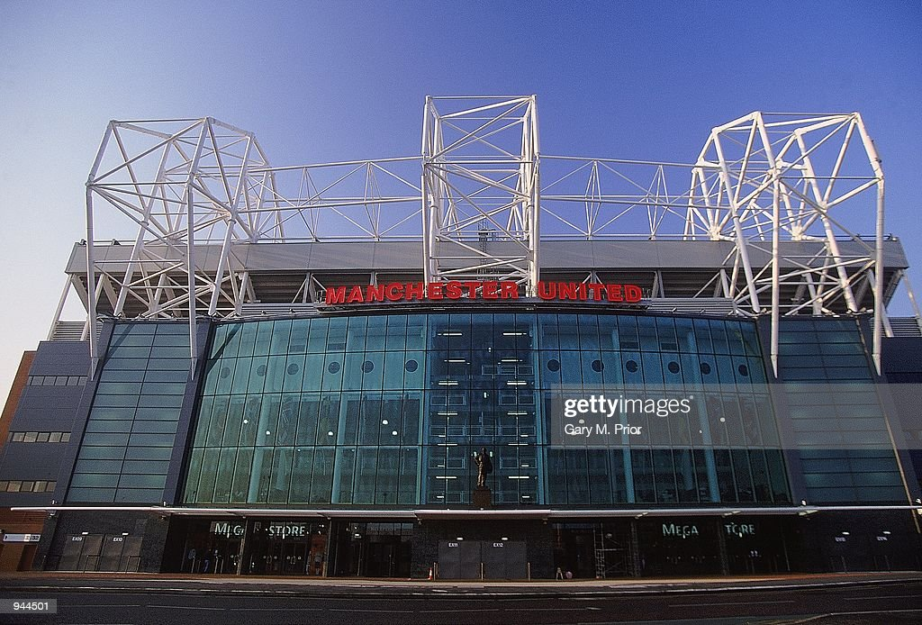 General view of Old Trafford home of Manchester United FC in Manchester England Mandatory Credit Gary M Prior/Allsport