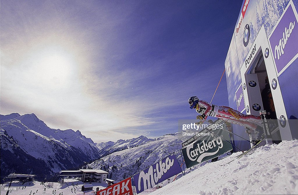 General view of the start of the Womens SuperG at the FIS Alpine World Ski Championships at St Anton in Austria Mandatory Credit Shaun Botterill...