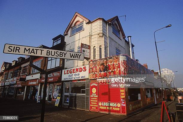General view Sir Matt Busby Way outside Old Trafford home of Manchester United FC in Manchester England Mandatory Credit Gary M Prior/Allsport