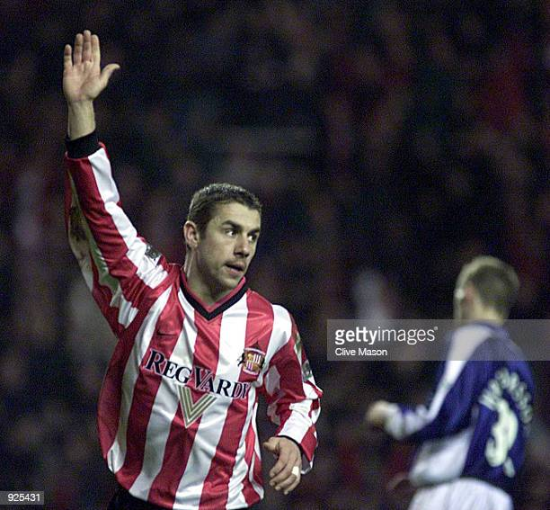 Kevin Phillips of Sunderland celebrates scoring during the FA Carling Premiership match between Sunderland and Ipswich Town at the Stadium of Light...