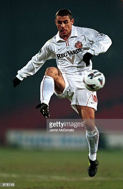 Kevin Phillips of Sunderland in action during the match between Crystal Palace and Sunderland in the Axa Sponsored FA Cup third round replay at...
